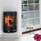 Aduro 9-4 DEFRA wall mounted modern log burner