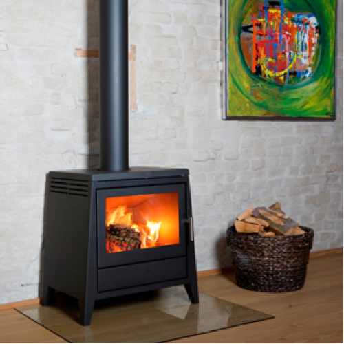Aduro 4 Black Modern Wood Burning Stove