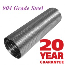 904 grade Chimney Liner 5 inch Diameter 9 metre length