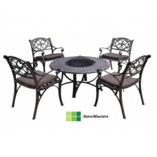 Armando Firebowl Table and chairs (incl cushions)