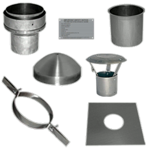 Chimney Liner 6 Quot Install Kit With Top Plate And Clamp