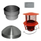 "Chimney Liner 6"" install kit with pot hanger (terracotta)"