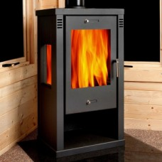 Minerva 8 Kilowatt contemporary modern wood burner
