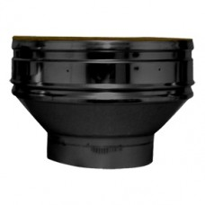 Twin Wall flue adapter 5 in vitreous flue to 6 in twin wall BLACK