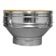 "Twin Wall flue adapter 5"" vitreous flue to 6"" twin wall flue"