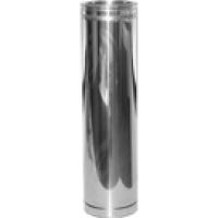 STAINLESS Twin Wall Flue Stainless Steel finish