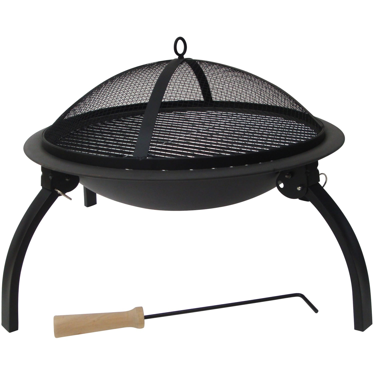 The Pack Includes The Fire Bowl Itself, With Charcoal Grill, BBQ Grill,  Spark Guard And A Little Tool To Move The Grills Or Guard While In Use.