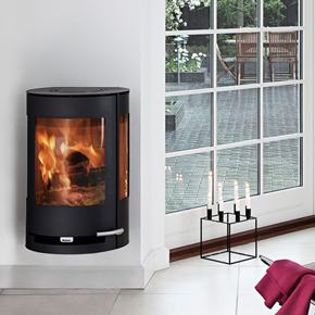 Aduro 9-4 wall mounted wood burning stove