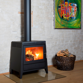 aduro modern wood burning log stove