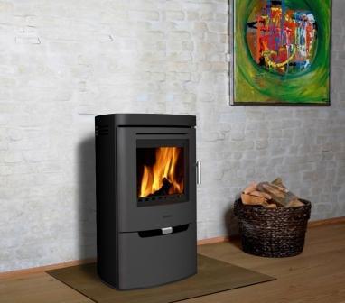 Aduro 8 DEFRA approved modern woodburner