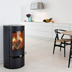 Aduro 9-1 Black modern wood burning stove