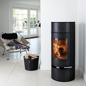 Aduro 9-2 Black modern wood burning stove