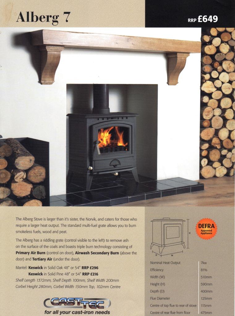 alberg 7kw defra approved log burner. Black Bedroom Furniture Sets. Home Design Ideas