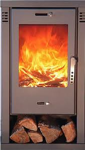 modern contemporary wood burning stove
