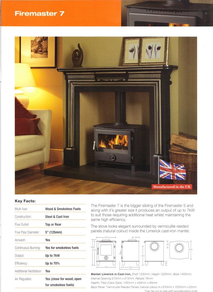 firemaster 7 defra log burner