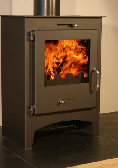 saturn modern contemporary woodburner