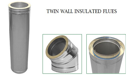 The twin wall flue is essentially a flue pipe inside another flue pipe with a layer of insulation between the two pieces. This layer ensures that the ...  sc 1 st  Wood Burning Stoves by StoveMaestro & What is Twin Wall Flue pipe and why do i need to use it?? | Fitting ...